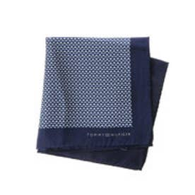 トミーヒルフィガー TOMMY HILFIGER Pocket square PSQDSN16104 (ネイビー)