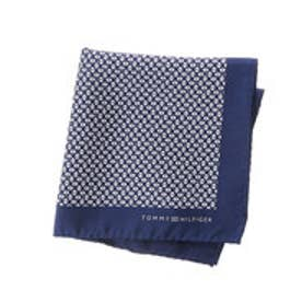 トミーヒルフィガー TOMMY HILFIGER Pocket square PSQDSN16103 (ネイビー)