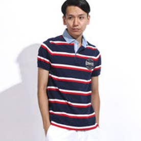 トミーヒルフィガー TOMMY HILFIGER BAY STP POLO S/S SF (ネイビー)