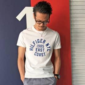 トミーヒルフィガー TOMMY ラウンドロゴショートスリーブTシャツ (ホワイト)