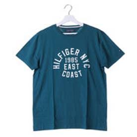 トミーヒルフィガー TOMMY ラウンドロゴショートスリーブTシャツ (グリーン)