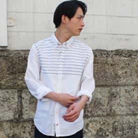 トミーヒルフィガー TOMMY HILFIGER コットンポプリンフィッテッドシャツ (ホワイト)