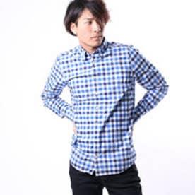 トミーヒルフィガー TOMMY HILFIGER マルチギンガムチェックシャツ (ブルー)