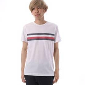 トミーヒルフィガー TOMMY HILFIGER エンブロイダリーフラッグTシャツ (ホワイト)