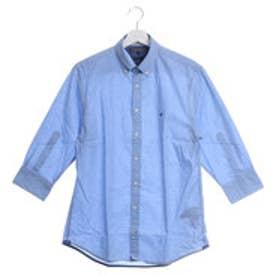 トミーヒルフィガー TOMMY HILFIGER NF7分袖シャツ (ブルー)