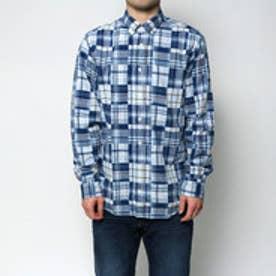 トミーヒルフィガー TOMMY HILFIGER パッチワークシャツ (ネイビー)