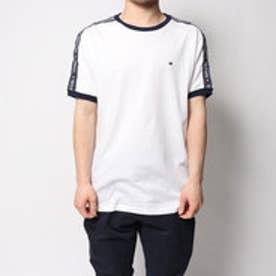 トミーヒルフィガー TOMMY HILFIGER 【オンライン限定】コットンフリースラウンジTシャツ (ホワイト)