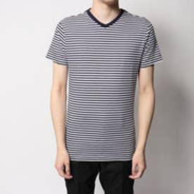 トミーヒルフィガー TOMMY HILFIGER 2パック VネックTシャツ (ホワイト/ネイビー)