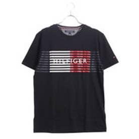 トミーヒルフィガー TOMMY HILFIGER シグネチャースピードストライプTシャツ (ブラック)