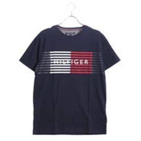 トミーヒルフィガー TOMMY HILFIGER シグネチャースピードストライプTシャツ (ネイビー)