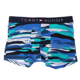 トミーヒルフィガー TOMMY HILFIGER カモフラージュストライプトランクス (ブルー)【返品不可商品】