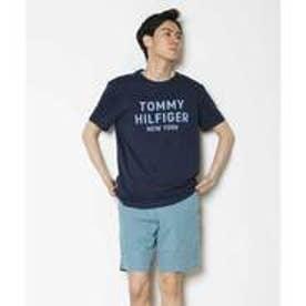 トミーヒルフィガー TOMMY HILFIGER ロゴプリントTシャツ (ネイビー)