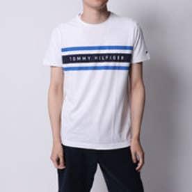トミーヒルフィガー TOMMY HILFIGER ラインロゴTシャツ (ホワイト)