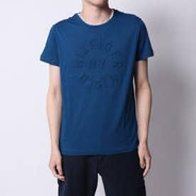 トミーヒルフィガー TOMMY HILFIGER エンボスグラフィックTシャツ (ネイビー)