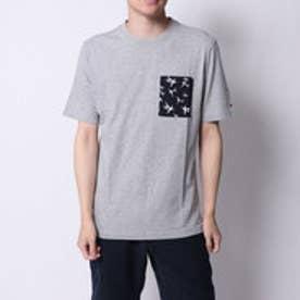 トミーヒルフィガー TOMMY HILFIGER バンブープリントポケットTシャツ (グレー)