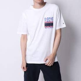 トミーヒルフィガー TOMMY HILFIGER トロピカルパッチポケットTシャツ (ホワイト)