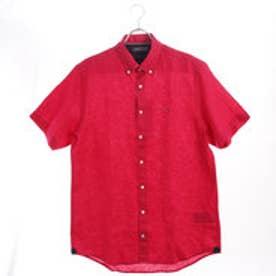 トミーヒルフィガー TOMMY HILFIGER リネンボタンダウンシャツ (レッド)