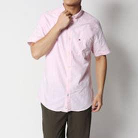 トミーヒルフィガー TOMMY HILFIGER ショートスリーブレギュラーフィットシャツ (ピンク)