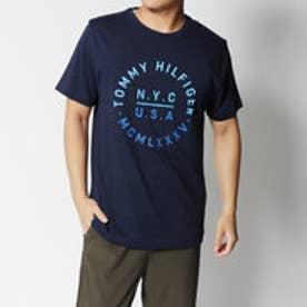 トミーヒルフィガー TOMMY HILFIGER テキストロゴレギュラーフィットTシャツ (ネイビー)