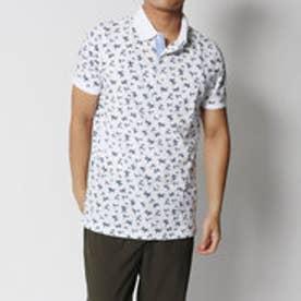 トミーヒルフィガー TOMMY HILFIGER バンブープリントポロシャツ (ホワイト)
