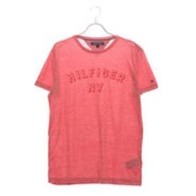 トミーヒルフィガー TOMMY HILFIGER NYロゴヘザーTシャツ (ピンク)