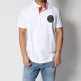 トミーヒルフィガー TOMMY HILFIGER バッジアプリケコットンポロシャツ (ホワイト)