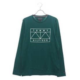 トミーヒルフィガー TOMMY HILFIGER グラフィックロングスリーブTシャツ (グリーン)