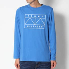 トミーヒルフィガー TOMMY HILFIGER グラフィックロングスリーブTシャツ (ブルー)