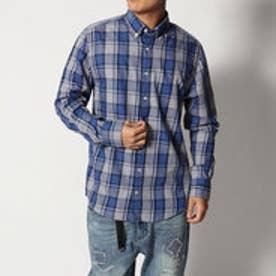 トミーヒルフィガー TOMMY HILFIGER フランネルチェックシャツ (ブルー)