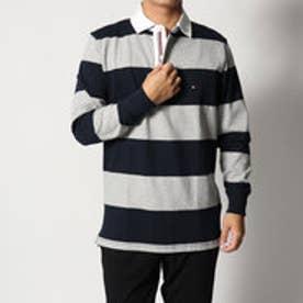 トミーヒルフィガー TOMMY HILFIGER ストライプラガーシャツ (ネイビー)
