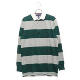 トミーヒルフィガー TOMMY HILFIGER ストライプラガーシャツ (グリーン)