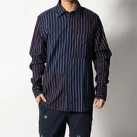 トミーヒルフィガー TOMMY HILFIGER レジメンタルパッチワークシャツ (パープル)