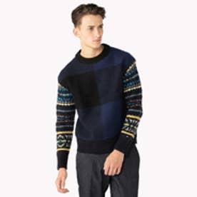 トミーヒルフィガー TOMMY HILFIGER オーバーサイズ フェアアイル セーター (ネイビー)