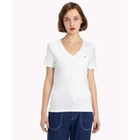 トミーヒルフィガー TOMMY HILFIGER ベーシックVネックTシャツ (ホワイト)