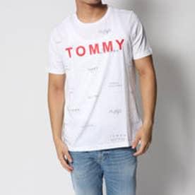 トミーヒルフィガー TOMMY HILFIGER マルティプルロゴコットンTシャツ (ホワイト)