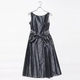 ジュネビビアン Genet Vivien ベルト付き刺繍ドレス (シルバーグレー)
