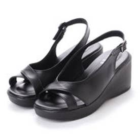 ドクター ショール Dr.Scholl Dr.Scholl Crossed Belt Sling Back Sandals (Black)