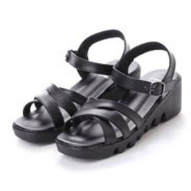 ドクター ショール Dr.Scholl Dr.Scholl Double Crossed Belt Sandals (Black)