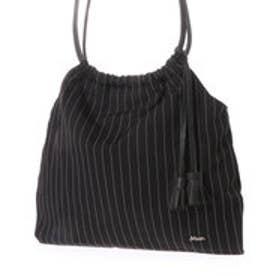 ミアン MIAN ロングハンドル巾着トートバッグ (ブラック)