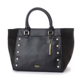 ミアン MIAN パール装飾2wayトートバッグ (ブラック)