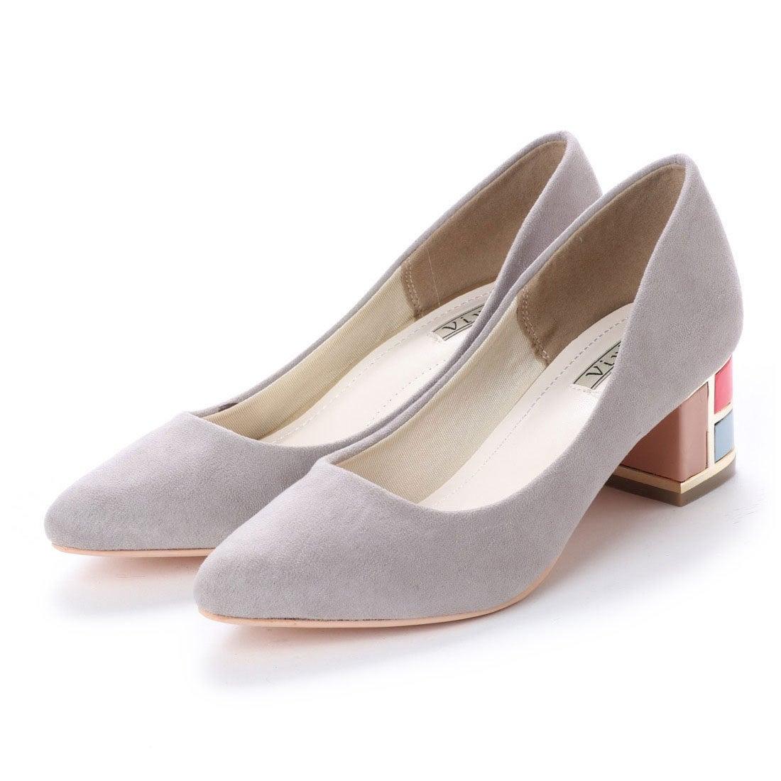 c78c0d754e779 ヴィヴィアン Vivian カラーモザイクヒールプレーンパンプス (グレースエード) -靴&ファッション通販 ロコンド〜自宅で試着、気軽に返品