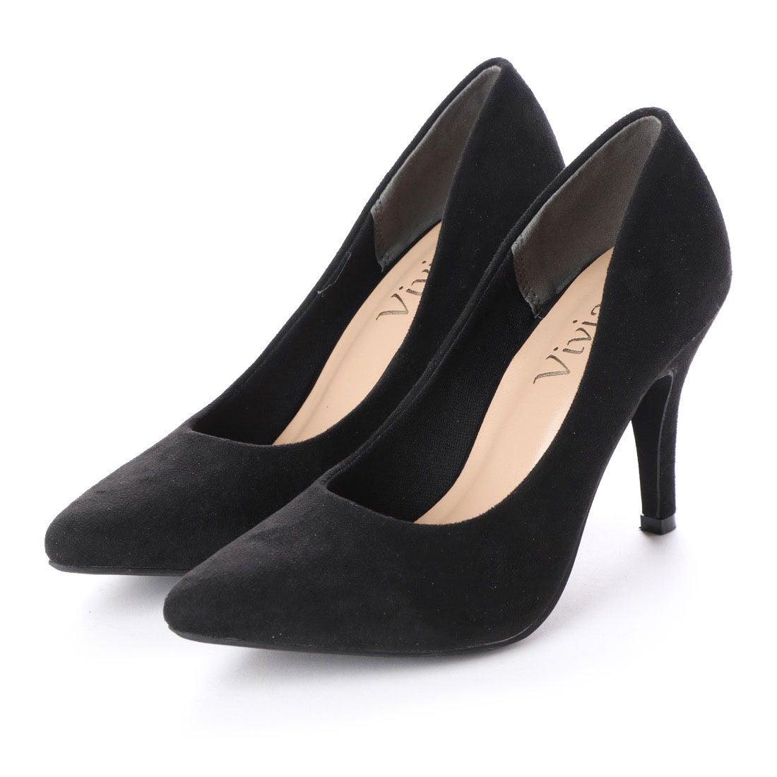 3f0b3095beae90 ヴィヴィアン Vivian ポインテッドトゥ9cmキレイめパンプス (ブラックスエード) -靴&ファッション通販 ロコンド〜自宅で試着、気軽に返品