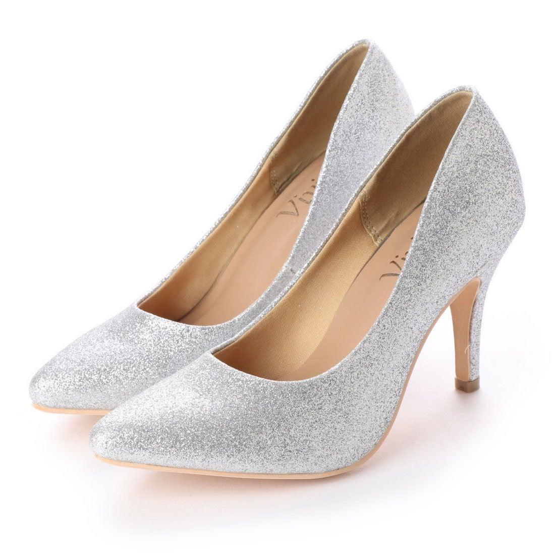 51888c2adbd9ca ヴィヴィアン Vivian ポインテッドトゥ9cmキレイめパンプス (シルバーグリッター) -靴&ファッション通販 ロコンド〜自宅で試着、気軽に返品