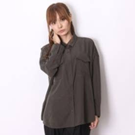 アトモス atmos LAB BIG POCKET SHIRT (KAHKI)