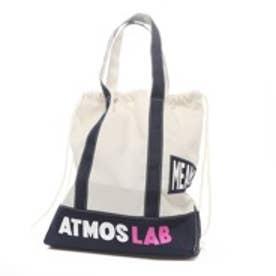アトモス atmos VOTE make new clothes for atmos TOTE GYM SACK (WHITE/NAVY)