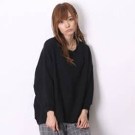 アトモス atmos LAB CREW NECK SWEAT SHIRTS BACK DROP HEM (BLK)