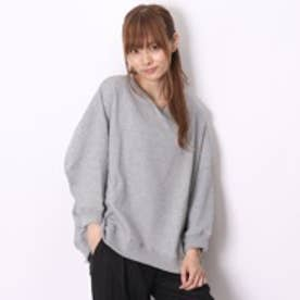 アトモス atmos LAB CREW NECK SWEAT SHIRTS BACK DROP HEM (GRY)