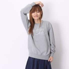 アトモス atmos LAB PRINTED CREWNECK SWEAT SHIRTS (GRAY)