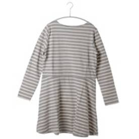アトモス ガール atmos girls atmos STRIPE PEPLUM ONE PIECE(T.GRY×NAT)