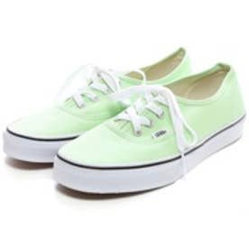 ヴァンズVANSCHAPTERAUTHENTIC(LIGHTGREEN)スニーカー